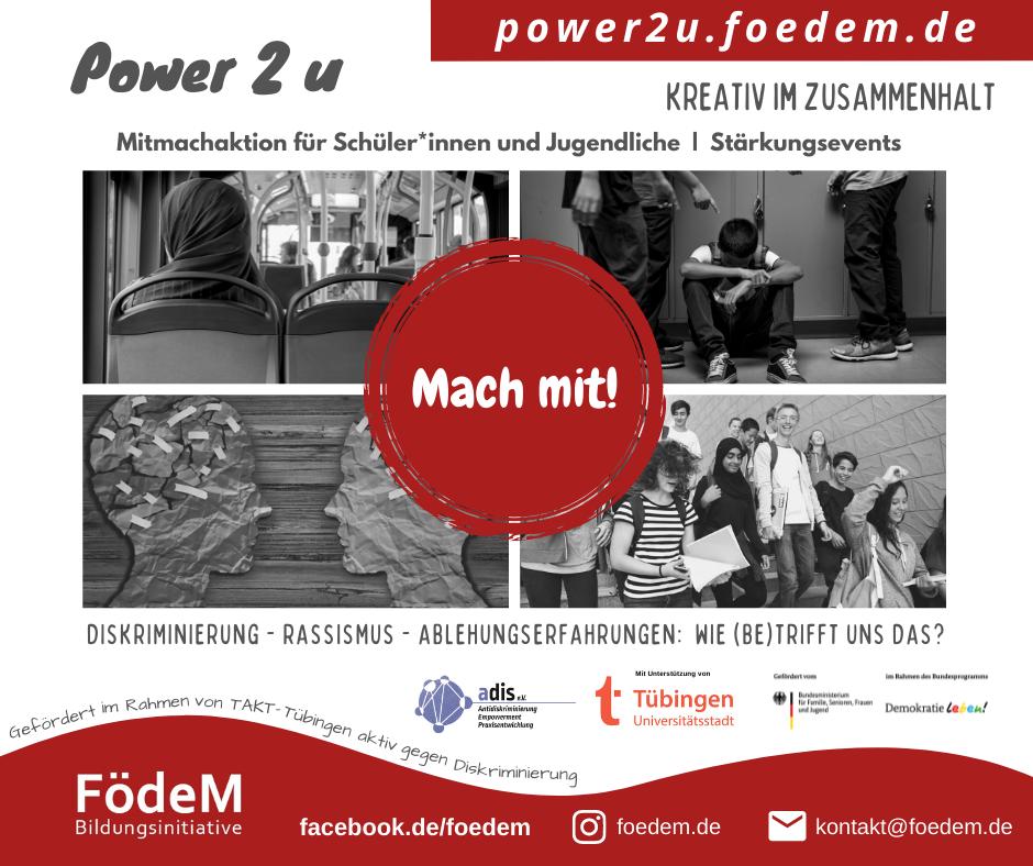 Power2u – Mitmachaktion für Schüler*innen und Jugendliche